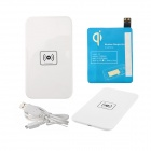 X5 Qi Standard Mobile Wireless Power Charger + Samsung Galaxy S4 Wireless Charger Receiver - White