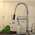 YDL-F-0528 Contemporary High-Pressure Chrome Kitchen Faucet - Silver