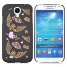 301 Stylish Glow-in-the-dark Pattern Plastic Back Case for Samsung i9500 - Black + Brass