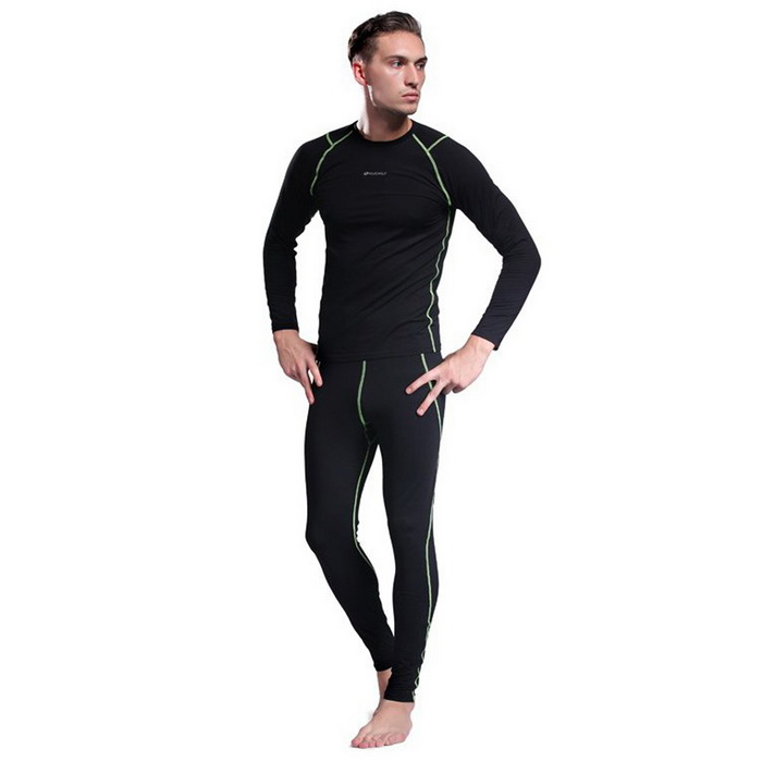 NUCKILY ME007 MF007 Men's Outdoor Sports Warm Suit for Hiking / Cycling - Black (XLM)