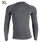 NUCKILY MH003 Men's Outdoor Sport Cycling Long-Sleeve Jersey Clothing - Grey (Size XL)