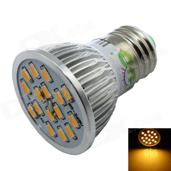 LUO E27 7W 600lm 3000K 16 x SMD 5630 LED Warm White Spotlight Bulb - Silver + White (AC 85~265V) e14 5w 110lm 3000k 8 smd 5630 led warm white light lamp bulb ac 85 265v