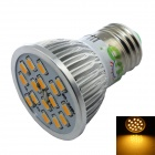 LUO E27 7W 600lm 3000K 16 x SMD 5630 LED Warm White Spotlight Bulb - Silver + White (AC 85~265V)