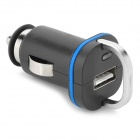 H-003 USB 2.0 5V 1000mA Car Cigarette Lighter Charger w/ LED - Black + Blue (12~24V)