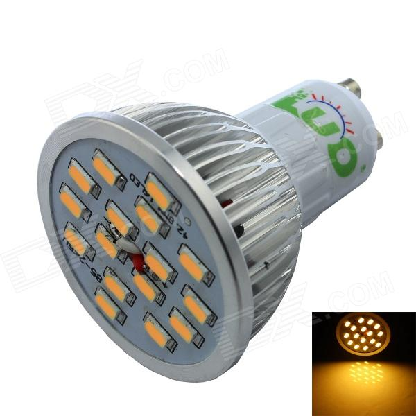 LUO GU10 7W 600lm 3000K 16 x SMD 5630 LED Warm White Spotlight Bulb - Silver + White (AC 85~265V) e14 5w 110lm 3000k 8 smd 5630 led warm white light lamp bulb ac 85 265v