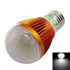 LUO E27 7W 600lm 6500K 16 x SMD 5630 LED White Light Bulb - Golden + Transparent (AC 85~265V)