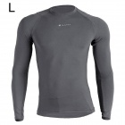 NUCKILY MH003 Men's Outdoor Sport Cycling Long-Sleeve Jersey Clothing - Grey (Size L)