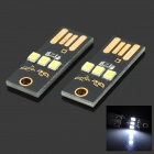 exLED Ultrathin USB 2.0 0.2W 22lm 3-LED White Mobile Power USB Light - Black (2 PCS)