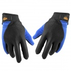 CBR S003 Outdoor Sports Windproof Warm Cycling Full-finger Gloves - Black + Blue (Size L)