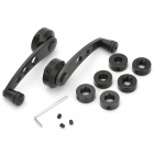 Universal Aluminum Alloy Car Window Winder Crank Handle - Black