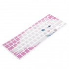 XSKN 799223332A07 Cute Cat Style Keyboard Membrane Film for MacBook Apple Air Pro 13 - Pink + White