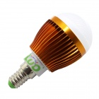 LUO E14 7W 600lm 3000K 16 x SMD 5630 LED Warm White Light Bulb - Golden + Transparent (AC 85~265V)