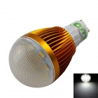 LUO GU10 7W 600lm 6500K 16-SMD 5630 LED White Light Bulb - Golden + Transparent (AC 85~265V)