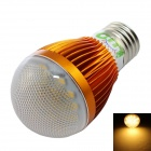 LUO E27 7W 600lm 3000K 16-SMD 5630 LED Warm White Light Bulb - Golden + Transparent (85~265V)