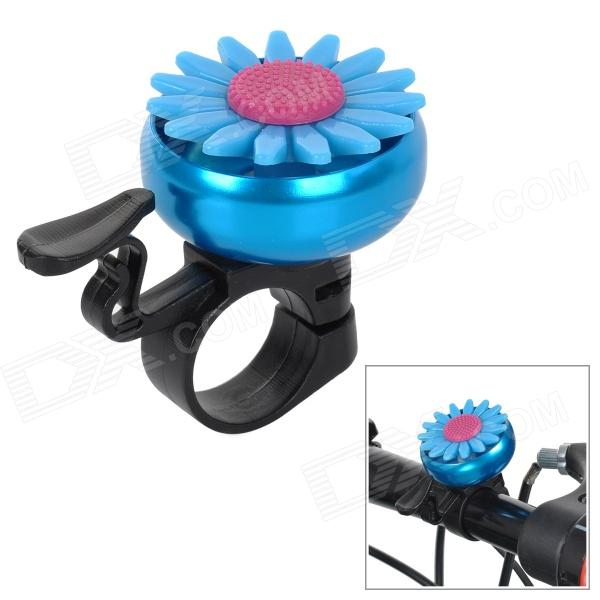 Chrysanthemums Style Aluminium Alloy Bicycle Bell - Blue + Black