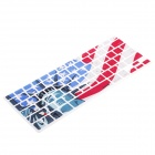 XSKN 799223332C01 The Statue of Liberty Style Keyboard Sticker Film for Apple Macbook - Red + Blue