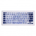 XSKN 799223332B02 Chinese Style Pattern Keyboard Membrane for Notebook MacBook - Navy Blue + White