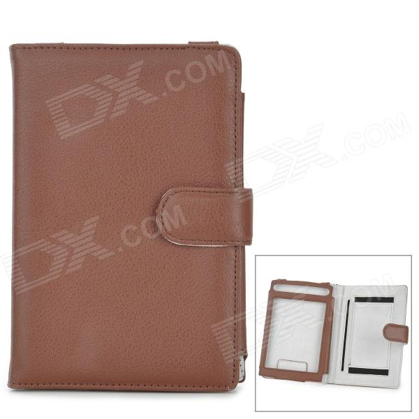 Protective PU Leather Case Cover for Sony PRS-T1 / PRS-T2 - Light Brown sony reader pocket edition prs 300 киев