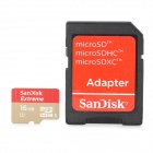 SanDisk UHS-I MicroSD / TF Memory Card w/ TF to SD Card Adapter - Golden (16GB)