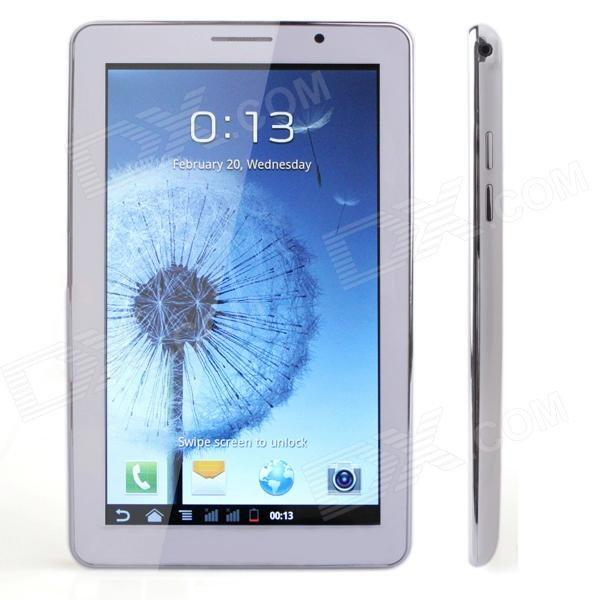 JXD P1000s 7 HD Dual-Core Dual-SIM Android 2.3.5 Phone Tablet PC w/ Wi-Fi / G-sensor - White samsung galaxy s4 2 ядра dual 5 дюймов wi fi duos android 4 0 2 sim