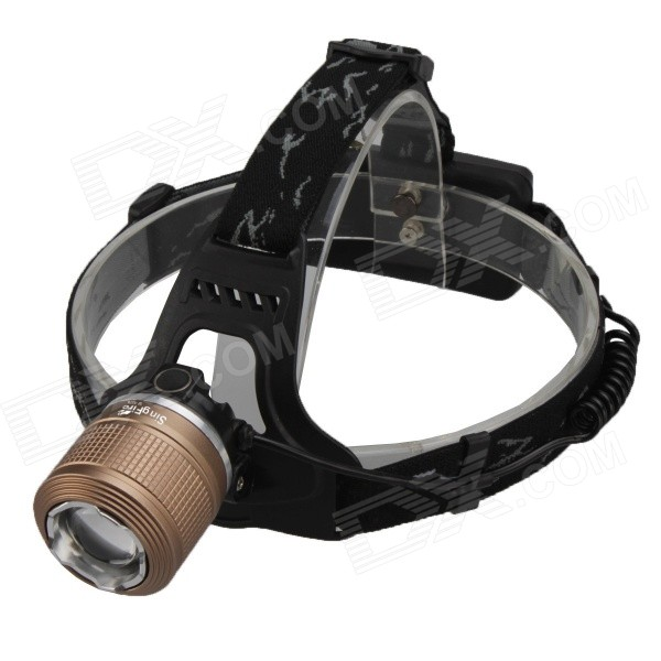 SingFire SF-557D 4-Mode 750lm White Rotation Zooming LED Headlamp w/ 2 x 18650+EU plug singfire sf 558g 200lm 4 mode white green led zooming headlight 2 x 18650