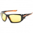 CARSHIRO XQ1277 Outdoor UV400 Protection PC Frame Resin Lens Polarized Sunglasses - Black + Orange