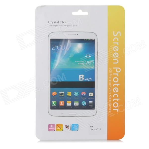 Protectora PET Protector Pantalla Guard para Google Nexus 7 (5 PCS)