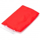 HY-71 Car Warm Lint + Plastic Ice Snow Scraper / Shovel Glove - Red