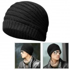 Casual Autumn and Winter Warm Woolen Hat - Black