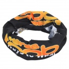 Roswheel 45493-14 Outdoor Multifunction Seamless Polyester Headscarf - Black + Multicolored