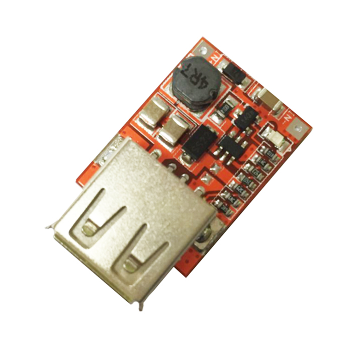 Produino DC-DC 3V to 5V 1A USB Power Boost Module - Red + Silver nc dc dc dc adjustable voltage regulator module integrated voltage meter 8a voltage stabilized power supply