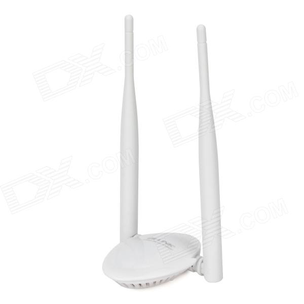 B-LINK BL-WN8500 USB Wireless 300Mbps Network Card w/ Dual-Antenna - White linfox high power usb cmcc wireless network card white grey golden