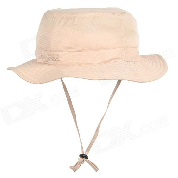OUTFLY B09004 Quick Dry Mountaineering Travel Bush Hat Cap - Beige