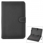 M-way UCHK-7 USB Powered 80 Keys Keyboard w/ PU Leather Cover + Stylus Pen - Black