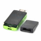 KINGMAX KOTGR-01 OTG TF Card Reader w/ USB Adapter for Cell Phone / Tablet - Green + Black