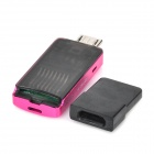 KINGMAX KOTGR-01 OTG TF Card Reader w/ USB Adapter for Cell Phone / Tablet PC - Deep Pink + Black