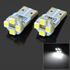 T10 1W 4-SMD 1210 LED White Light Car Turn / Instrument / Indicator Lamp (DC 12V / 2 PCS)