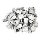 Plastic Network Cable Crystal Connector Protectors - Grey (50 PCS)