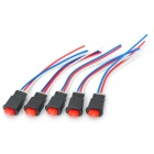 10A Emergent Switches - Black + Red + Blue (5PCS / 9~32V)