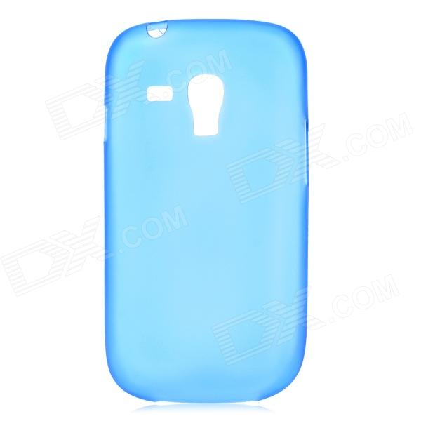 0.3mm Ultrathin Protective PC Back Case for Samsung Galaxy S3 Mini i8190 - Translucent Blue stylish protective back case for samsung i8190 galaxy s3 mini yellow translucent