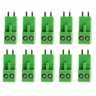 Jtron PBC Pluggable Terminal Rows / Straight 2-Pin 3.96mm Pitch - Green (10 PCS)