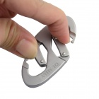 OUMILY Outdoor Sports Aluminum Alloy Lock Carabiner Clip - Silver (2 PCS)