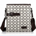 WKST 2181 Stylish Men's Business Casual Shoulder Bag - Black + White