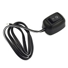 Jtron Automotive Simple Switch w/ Double-sided Adhesive / Thick Lines - Black