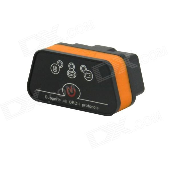 ICar OBDII ELM327 Bluetooth Car Diagnostic Tool - Svart + Orange