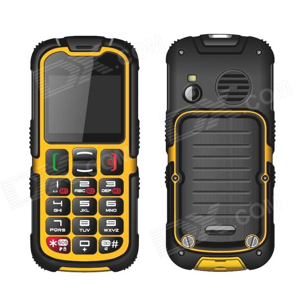 Enjoy W28 IP67 Waterproof Dustproof Rugged Outdoor Big Button Cellphone w/ 2