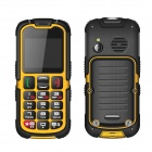"Enjoy W28 IP67 Waterproof Dustproof Rugged Outdoor Big Button Cellphone w/ 2"" QVGA - Orange + Black"