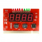 Jtron 4-Digit PCI Computer Motherboard Diagnostic Card / Motherboard Detection Card - Red