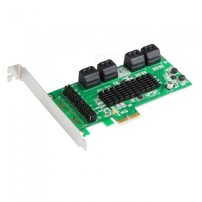 все цены на IOCREST SATA III (6Gbps) 8-Port PCI-Express Controller Card - Green онлайн
