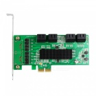 IOCREST SATA III (6Gbps) PCI-Express Card Controller 8-Port - Verde